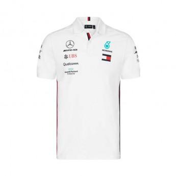 Mercedes AMG Petronas pánské polo tričko white F1 Team 2019