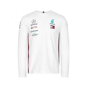 Mercedes AMG Petronas pánské tričko s dlouhým rukávem white F1 Team 2019