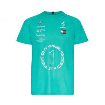 Mercedes AMG Petronas pánské tričko Winner green F1 Team 2019