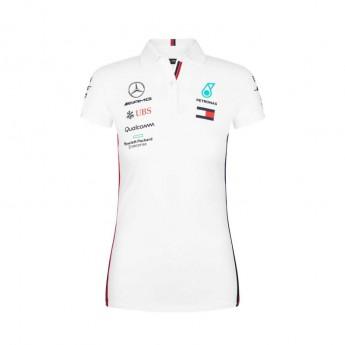 Mercedes AMG Petronas dámské polo tričko white F1 Team 2019