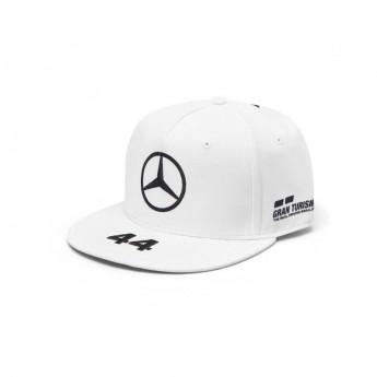Mercedes AMG Petronas čepice flat kšiltovka white Brim Hamilton F1 Team 2019
