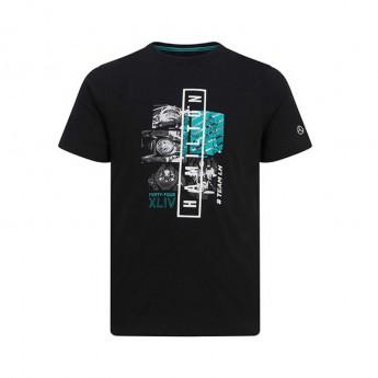 Mercedes AMG Petronas pánské tričko black Hamilton Graphic F1 Team 2019