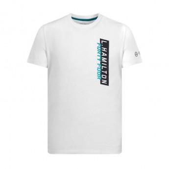 męska t-shirt biała Lewis 44 Mercedes AMG 19