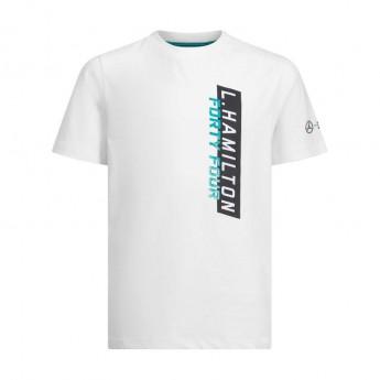 Mercedes AMG Petronas dětské tričko white Hamilton F1 Team 2019