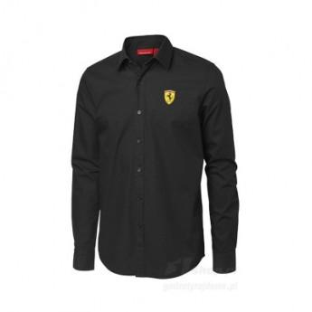 Scuderia Ferrari černá košile s dlouhým rukávem