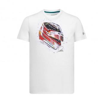 Mercedes AMG Petronas pánské tričko white Hamilton Helmet F1 Team 2019