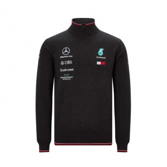 Mercedes AMG Petronas pánská mikina black Half Zip F1 Team 2019
