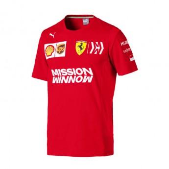 Ferrari pánské tričko Leclerc red F1 Team 2019