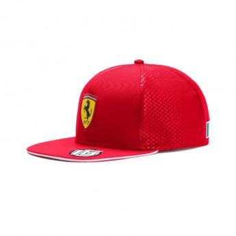 Ferrari dětská čepice flat kšiltovka red Leclerc F1 Team 2019
