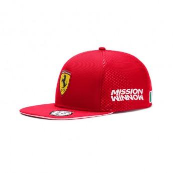 Ferrari čepice flat kšiltovka Leclerc red F1 Team 2019