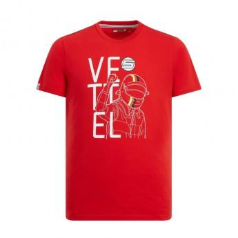 Ferrari pánské tričko red Vettel Fan F1 Team 2019