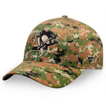 Pittsburgh Penguins čepice baseballová kšiltovka Authentic Pro Military Appreciation Alpha Adjustable