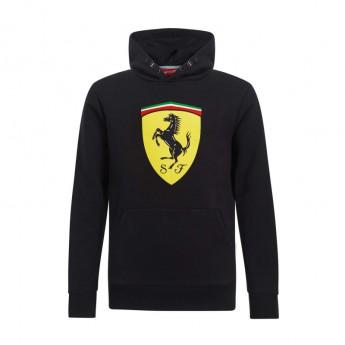 Ferrari dětská mikina s kapucí Logo black F1 Team 2019
