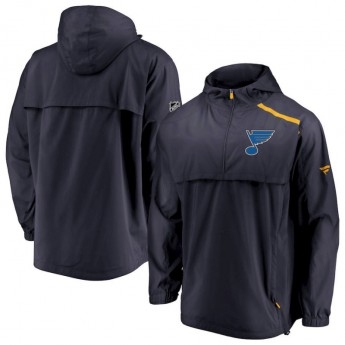 St. Louis Blues pánská bunda s kapucí Authentic Pro Rinkside Anorak 1/4-Zip