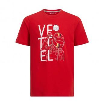 Ferrari dětské tričko red Vettel F1 Team 2019