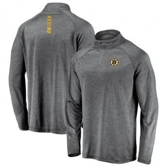 Boston Bruins pánská mikina grey Contenders Welcome Quarter-Zip Pullover