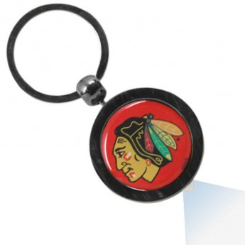 Chicago Blackhawks svítící přívěšek Gunmetal Hockey Puck Flashlight Keychain