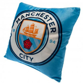 Manchester City polštářek blue logo Cushion