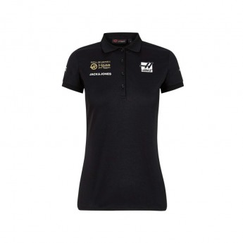 Haas F1 dámské polo tričko Energy Team black F1 Team 2019