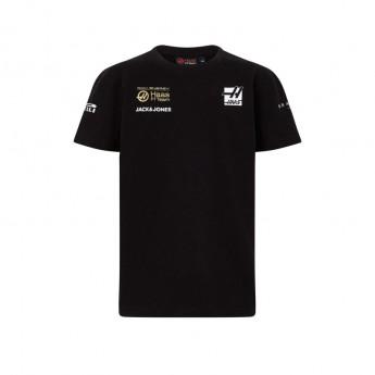 Haas F1 dětské tričko Energy Team black F1 Team 2019