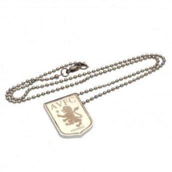 Aston Villa řetízek na krk s přívěškem stainless steel pendant & chain LG
