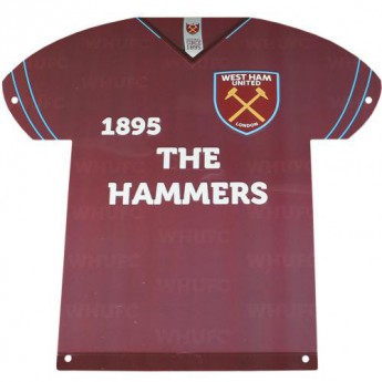 West Ham United kovová značka Metal Shirt Sign