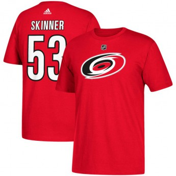 Carolina Hurricanes pánské tričko red Jeff Skinner 53 Name & Number T-Shirt
