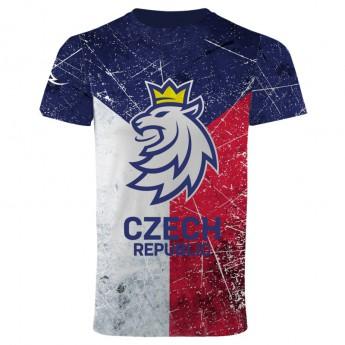 Hokejové reprezentace pánské tričko Czech Ice Hockey sub logo lion