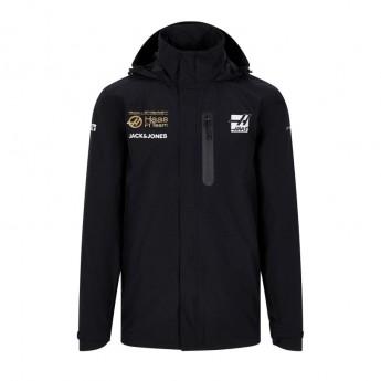 Haas F1 pánská bunda s kapucí Energy Team Rain black F1 Team 2019