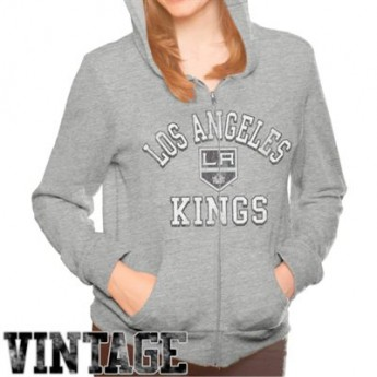 Los Angeles Kings dámská mikina grey Tri-Blend Full Zip