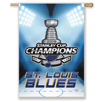St. Louis Blues vlajka 2019 Stanley Cup Champions Double Sided Sublimated House Flag