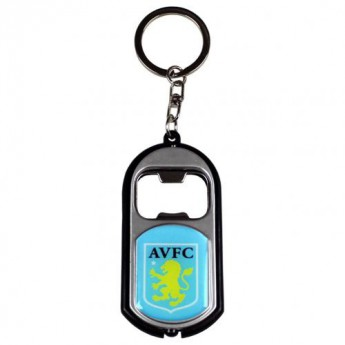 Aston Villa přívěšek s otvírakem Key Ring Torch Bottle Opener