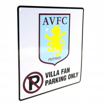 Aston Villa plechová cedule No Parking Sign