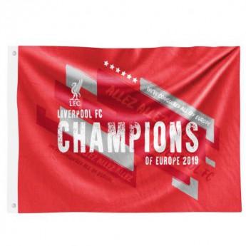 FC Liverpool vlajka Champions Of Europe Flag