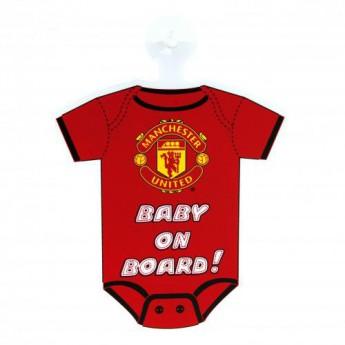 Manchester United mini body do auta Baby On Board Sign