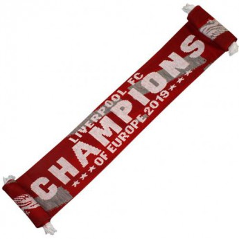 FC Liverpool zimní šála Champions Of Europe Scarf  RG