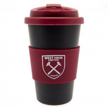West Ham United cestovní hrnek Silicone Grip Travel Mug