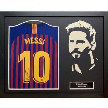 Legendy zarámovaný dres FC Barcelona Signed Shirt Silhouette